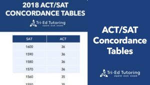 ACT/SAT Concordance Tables 2018-2019: How does my SAT score compare to my ACT score