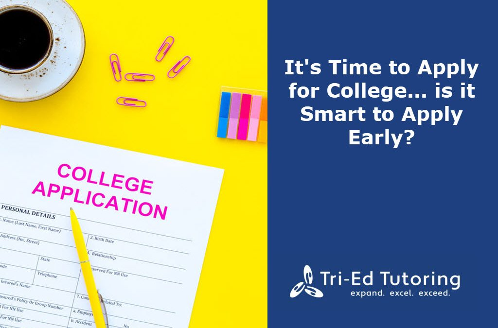 It's Time to Apply for College… is it Smart to Apply Early?