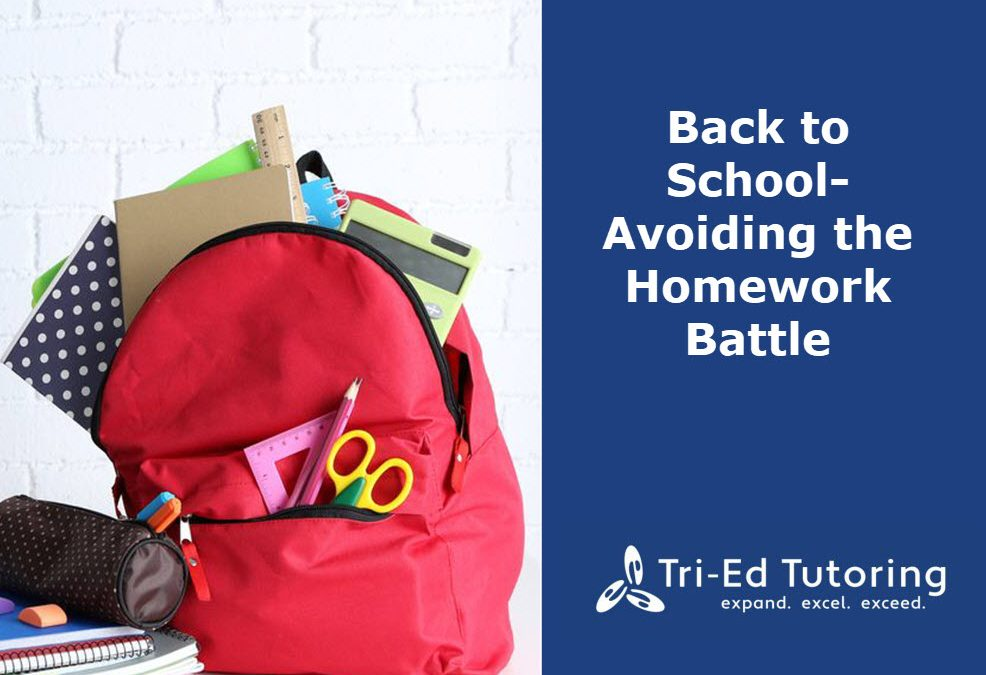 Back to School—Avoiding the Homework Battle