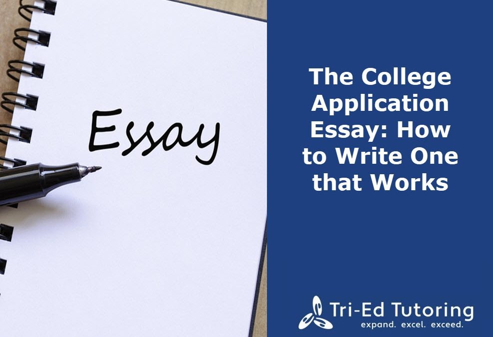 The College Application Essay:  How To Write One That Works