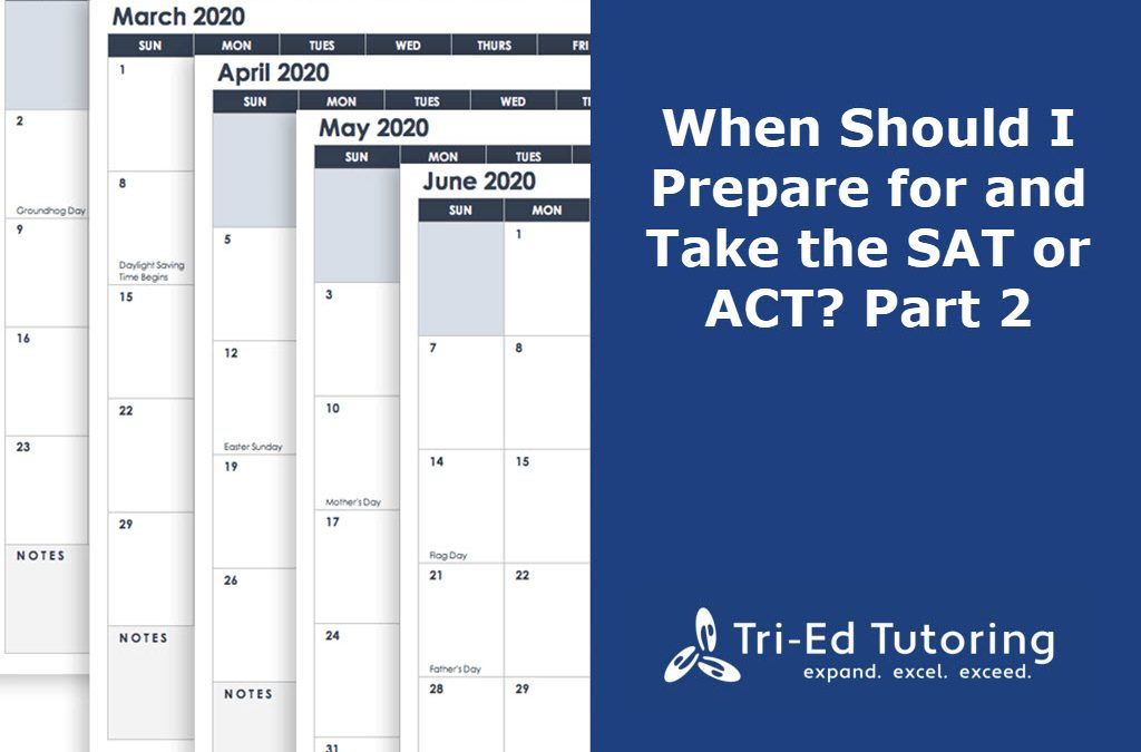When Should I Prepare for and Take the SAT or ACT? Part II